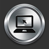 Laptop Icon on Metallic Button Collection