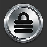 Lock Icon on Metallic Button Collection