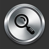 Magnify Icon on Metallic Button Collection
