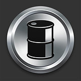 Oil Can Icon on Metallic Button Collection
