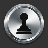 Pawn Icon on Metallic Button Collection