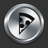 Pizza Icon on Metallic Button Collection