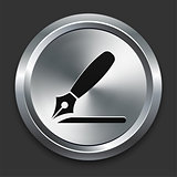 Razor Icon on Metallic Button Collection
