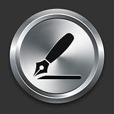 Razor Icon on Metallic Button Collection