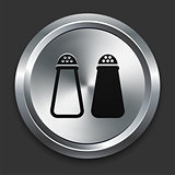 Salt & Pepper Icon on Metallic Button Collection