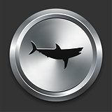 Shark Icon on Metallic Button Collection