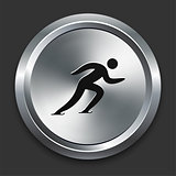 Skating Icon on Metallic Button Collection