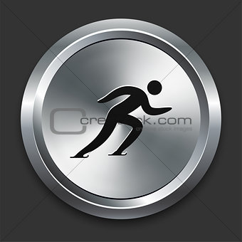 Skating Icon on Metallic Button Collection