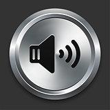 Speaker Icon on Metallic Button Collection