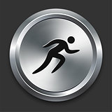Sprint Icon on Metallic Button Collection