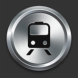 Subway Icon on Metallic Button Collection
