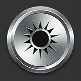 Sun Icon on Metallic Button Collection