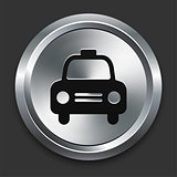 Taxi Icon on Metallic Button Collection