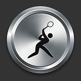 Tennis Icon on Metallic Button Collection