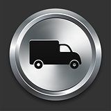 Truck Icon on Metallic Button Collection