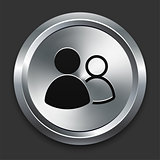 User Group Icon on Metallic Button Collection