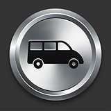 Van Icon on Metallic Button Collection