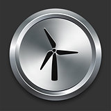 Windmill Icon on Metallic Button Collection