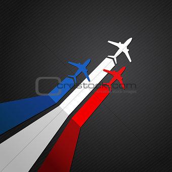 France plane vector