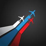 Russian plane vector