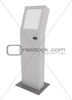 Touch Screen Pay Terminal isolated on white