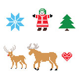 Christmas Nordic pattern vector icons set