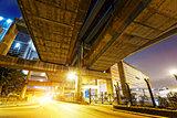 Hong Kong City Traffic Night