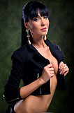 Beautiful stylish woman posing indoors