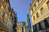 Church Frauenkirche area in Dresden Germany