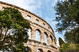 Roman Colosseum in Pula, Croatia.