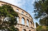 Roman Colosseum in Pula, Croatia.