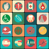 Set of  medical icons - vector icons