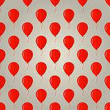 Vector background for red balloons