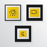 Vector illustration of three poster mock-ups