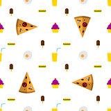 Vector background for fast food