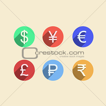Flat vector icons for moneymaker