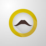 Vector icon for blog. Brown mustache