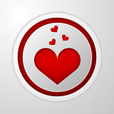 Vector icon for blog. Red heart