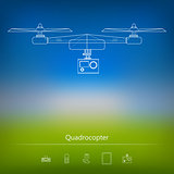 Contour ad layout for quadrocopter