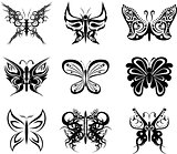 butterfly tatto set pack stickers2
