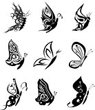 butterfly tatto set pack stickers