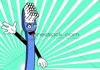 toothbrush cartoon background5