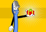toothbrush cartoon background3