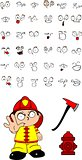 firefighter kid cartoon set5