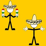 mexican mariachi pictogram cartoon set2