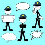 police man pictogram cartoon set5