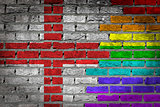 Dark brick wall - LGBT rights - England