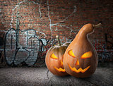 Pumpkins and graffiti