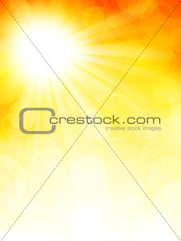 Autumn background with sun