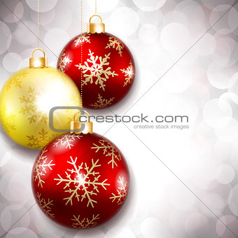 Christmas balls on a beautiful background